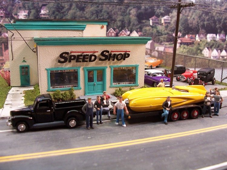 The gang at the Speed Shop