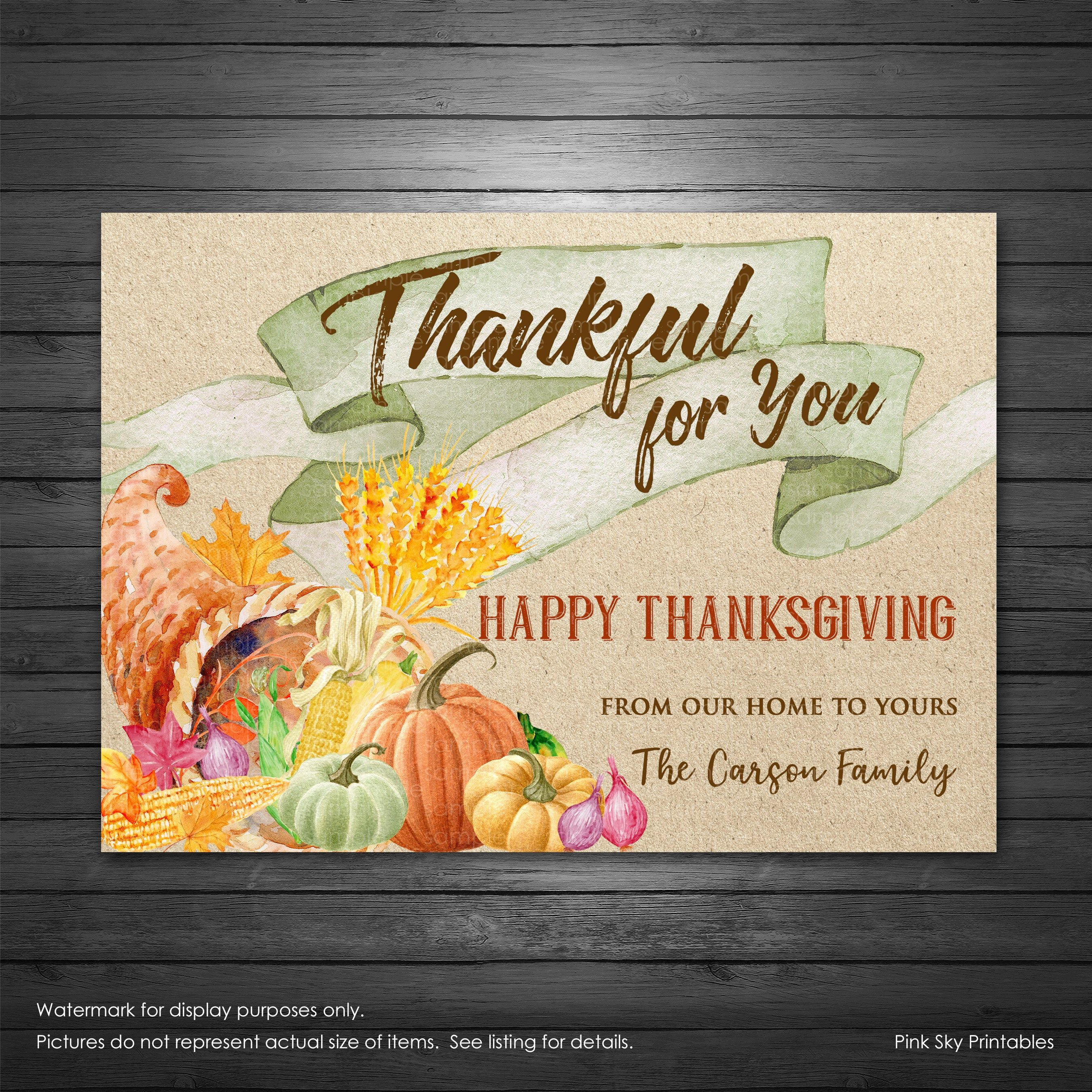 Thanksgiving Card Printable File Thankful For You Card Thanksgiving Greeting Card Per Thanksgiving Cards Thanksgiving Greetings Thanksgiving Greeting Cards