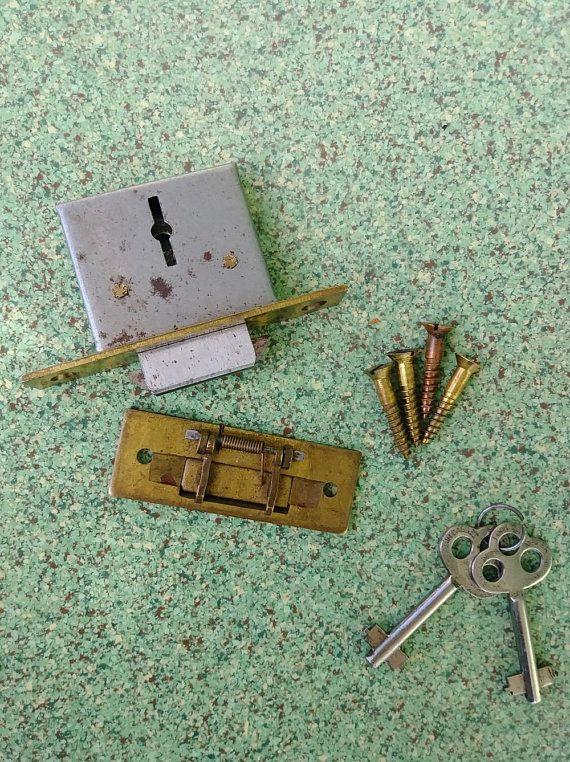 Vintage 1900s Mortice Roll Top Desk Lock Corbin Cabinet Lock Set