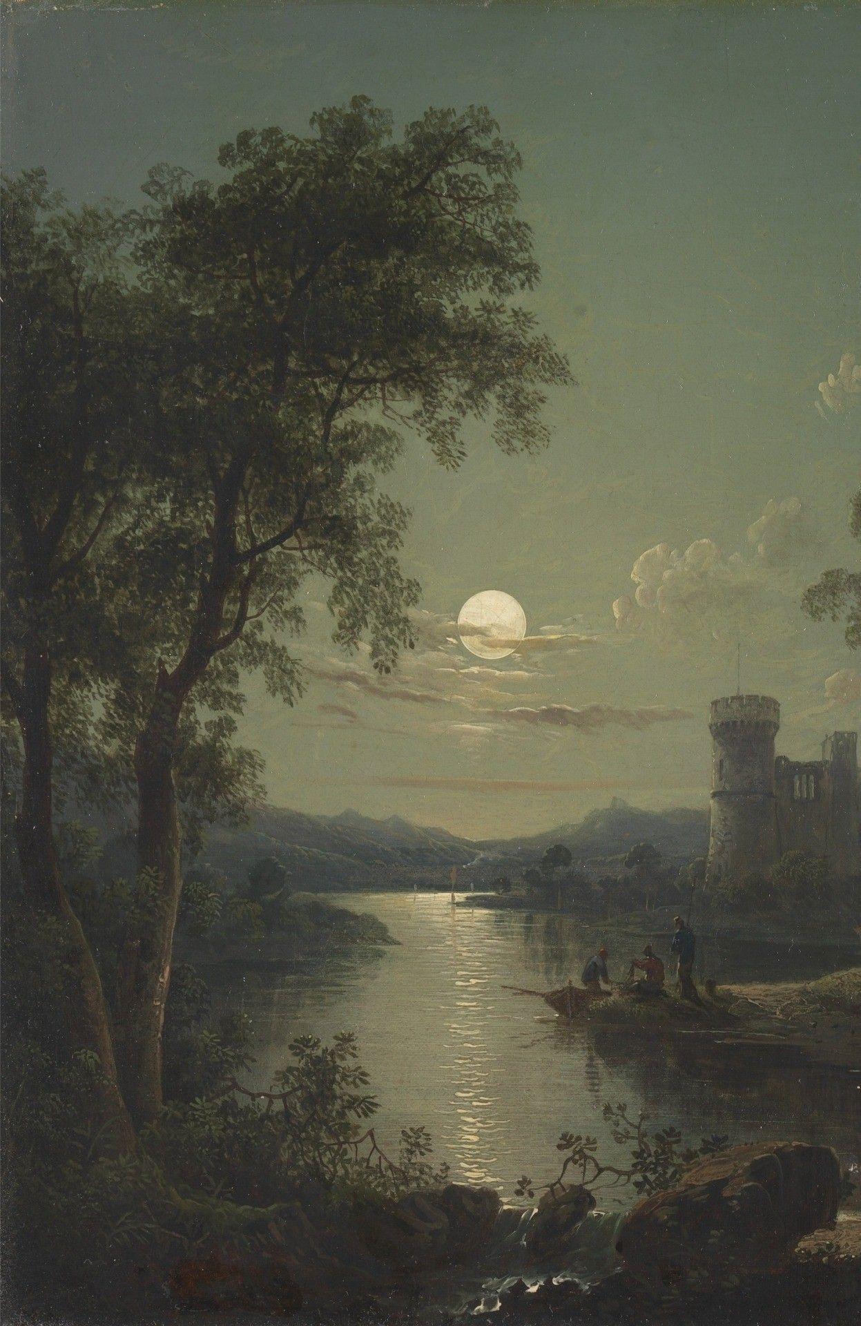 River Scene Detail Oil On Canvas 1840 Sebastian Pether Beautiful Art Watercolor Landscape Great Paintings