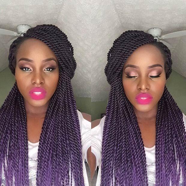19 Fabulous Kinky Twists Hairstyles | Twist hairstyles, Hair style ...