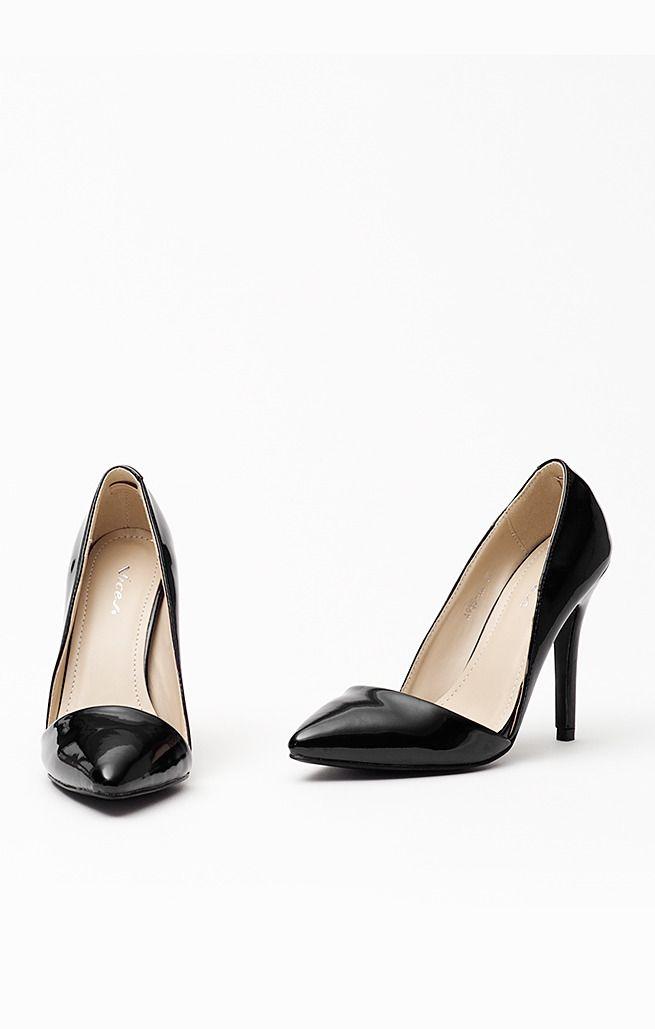 Czolenka Szpilki Asymetryczne Wyciecie Czarne Buty Damskie Czolenka Buty Damskie Szpilki 32982 Buty Merg Pl Heels Shoes Kitten Heels
