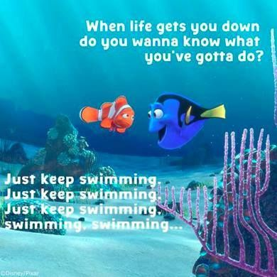 dory just keep swimming finding nemo disney quotes