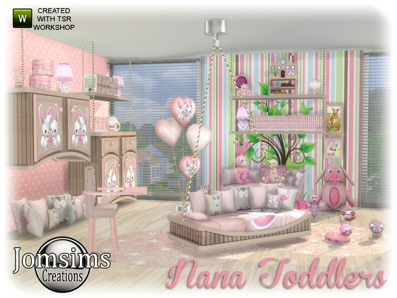 Here For Your Sims 4 Nana Toddlers Bedroom Found In Tsr Category Kids Sets