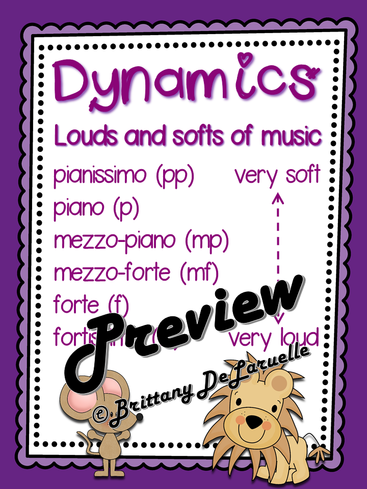This Freebie Includes My Dynamic Poster With A Definition Of Dynamics And 6  Dynamic Levels With