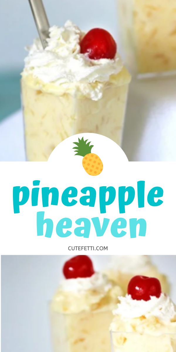 3 Ingredient Pineapple Dessert comes together with 3 ingredients.