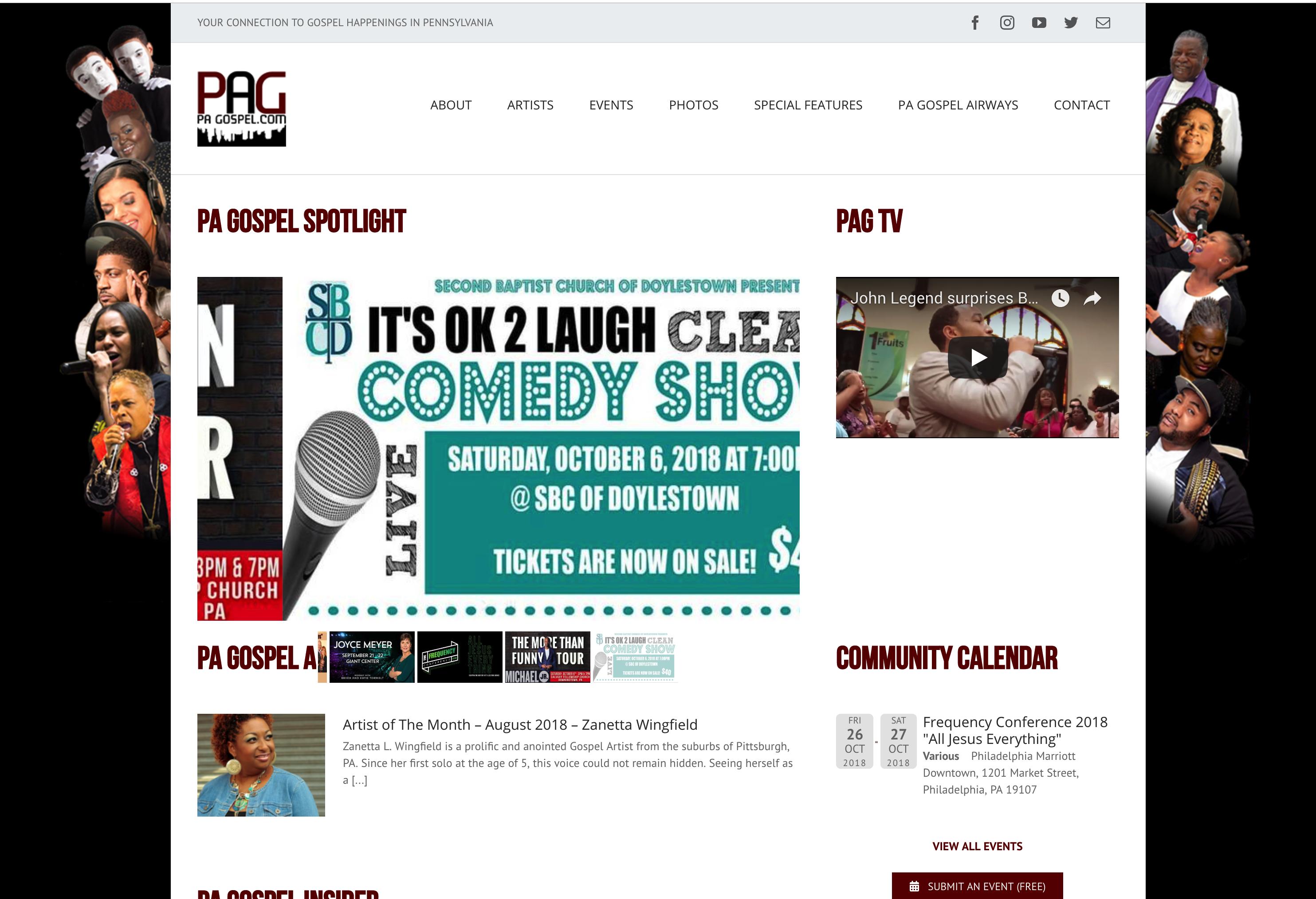 Pa Gospel Website Gospel Web Design Website