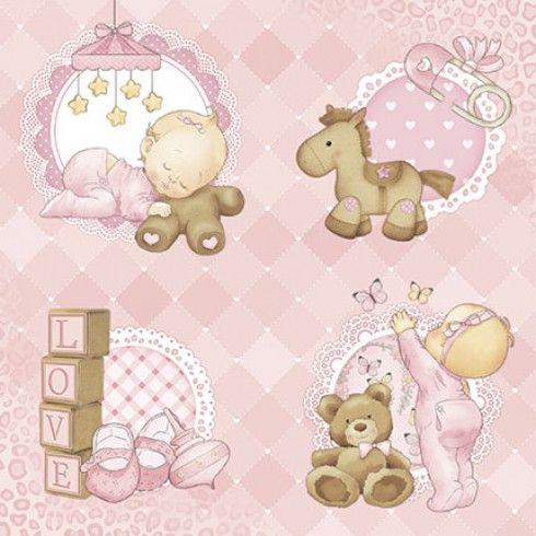 Kit de scrapbooking beb ni a litoarte 30x30cm tarjetas - Papel pintado bebe nina ...