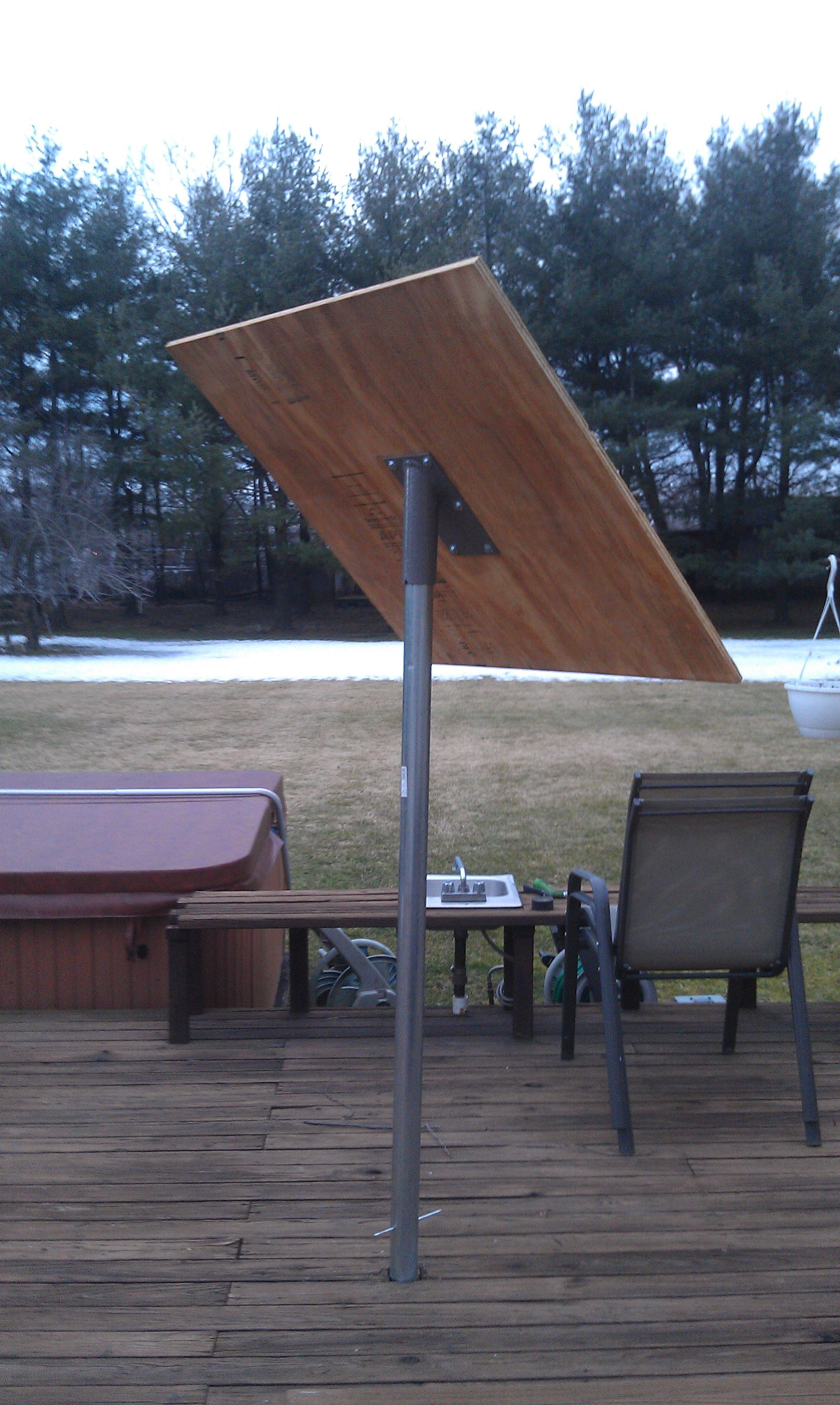 My Unfinished Solar Tracker Currently Just A Solar Panel