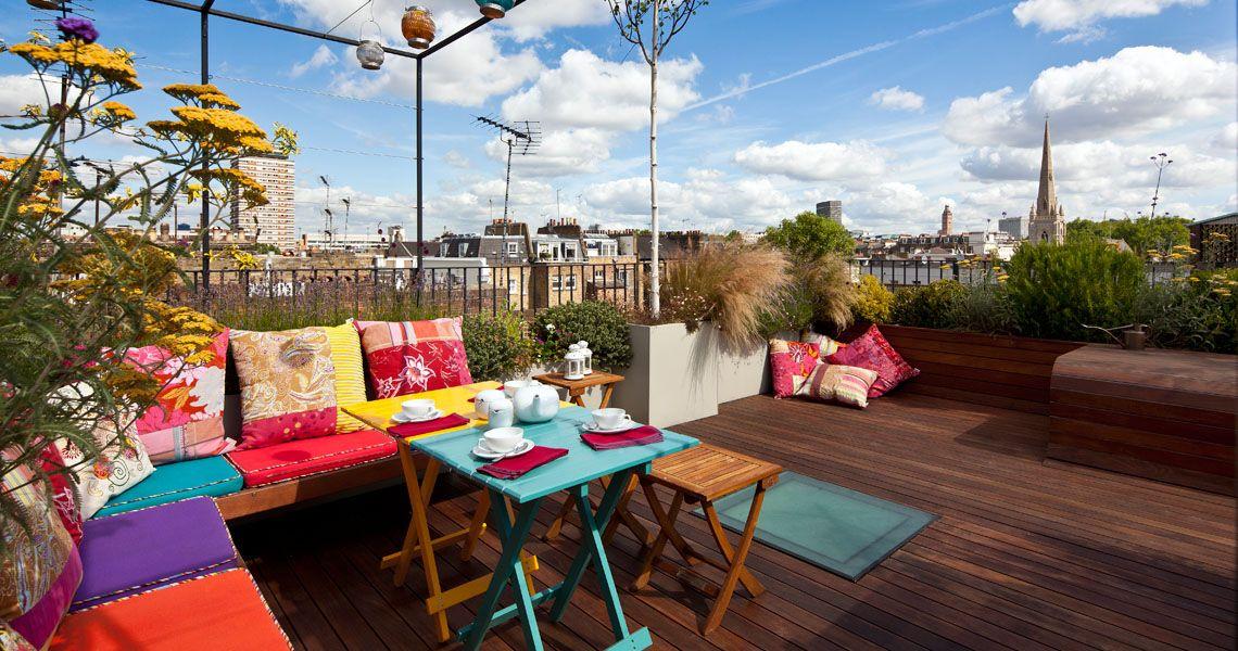 Pimlico Rooftop Garden Retractable Skylight