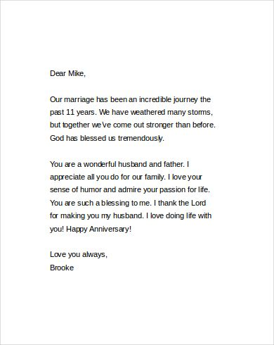 Anniversary Love Letter to My Husband Quotes Pinterest - encouragement letter template