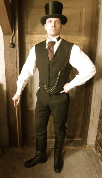 Black Victorian Waist Coat Vintage Inspired A Unique Product By