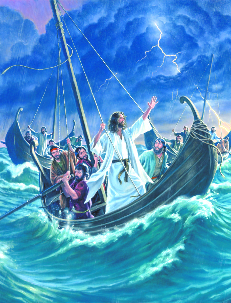 New Testament 2, Lesson 10: Jesus Calms a Storm - Seeds of Faith Podcast | Jesus  calms the storm, Spiritual art soul, Calming the storm