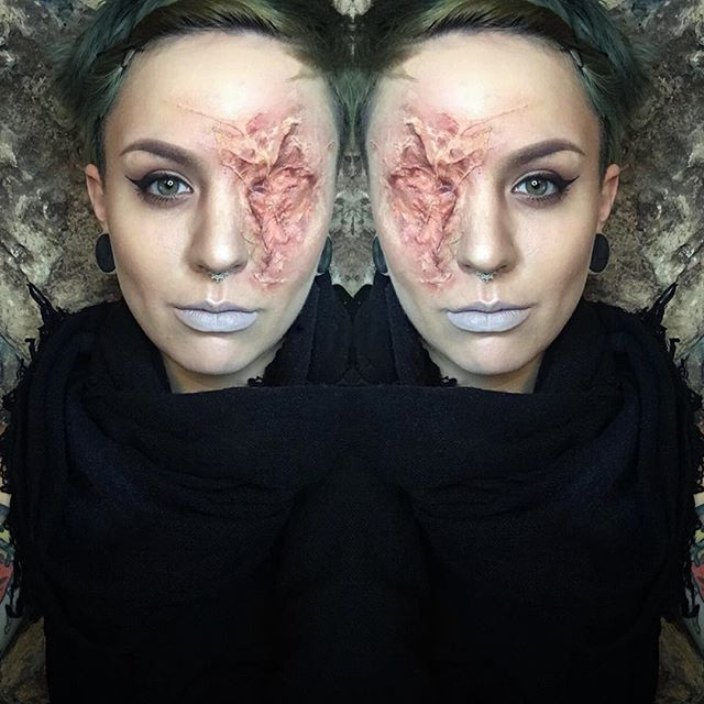 Pin by Sav on Makeup✨ Pinterest Makeup, Fx makeup and Halloween - halloween horror makeup ideas