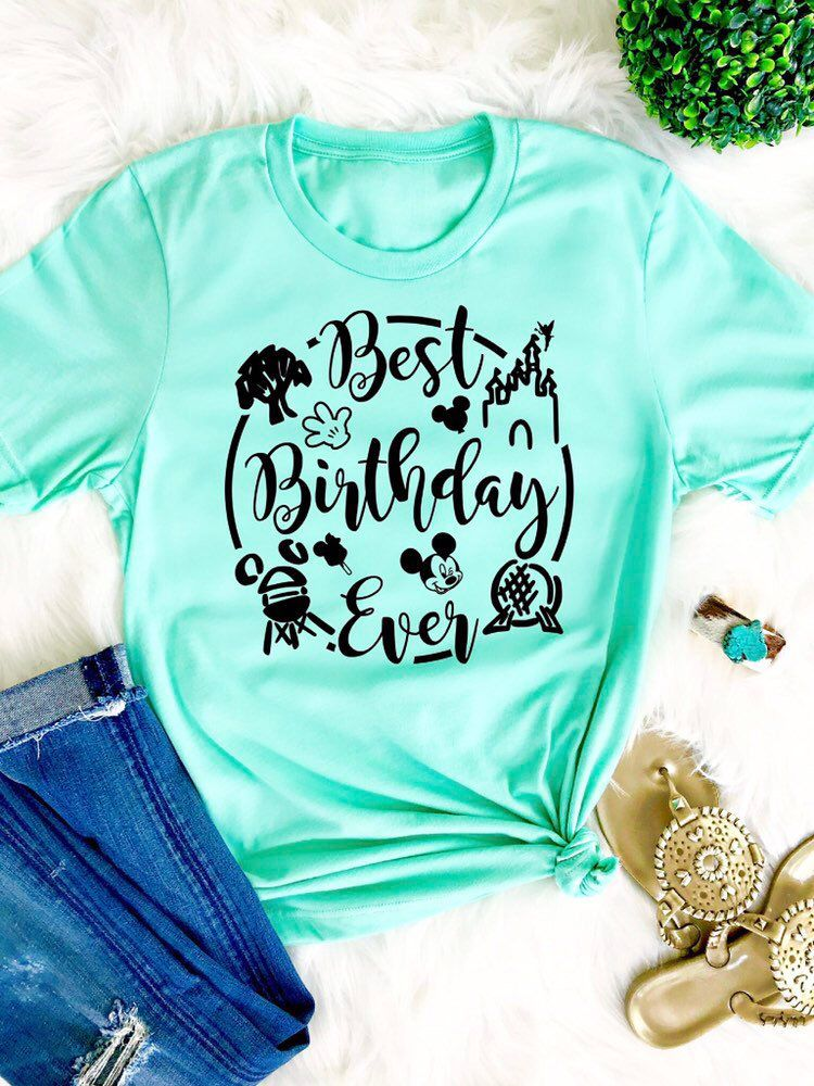 a7b3718a Excited to share this item from my #etsy shop: Disney Best Birthday Ever  shirt Disney adult birthday shirt Disney world shirt Disney women shirt  Disney ...
