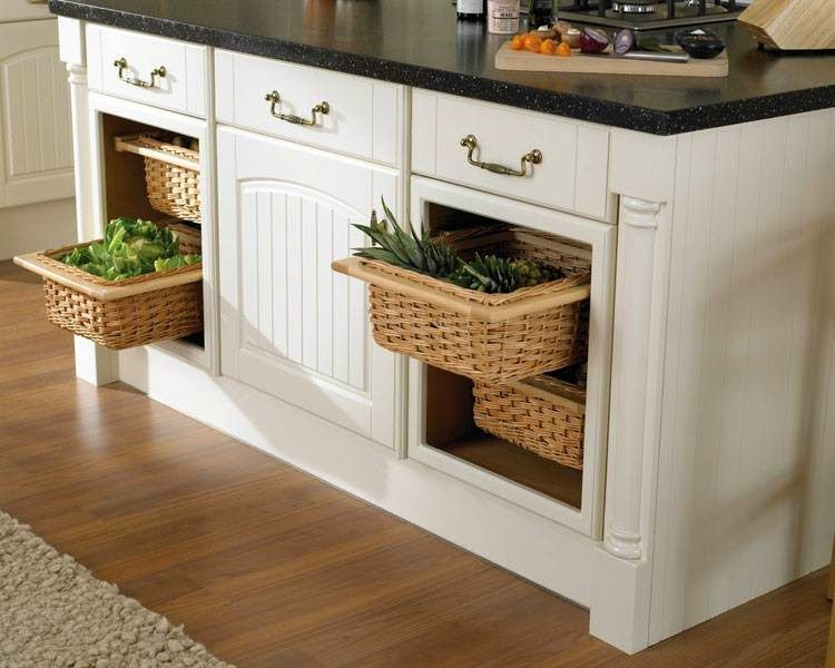The Traditional Storing Places For Produce Are Generally Inspiration Modular  Kitchen Baskets Designs Decorating Design