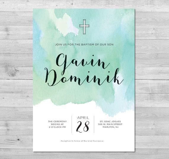 Baptism Invitation Boy, Christening Invitation, Baptism Invitation