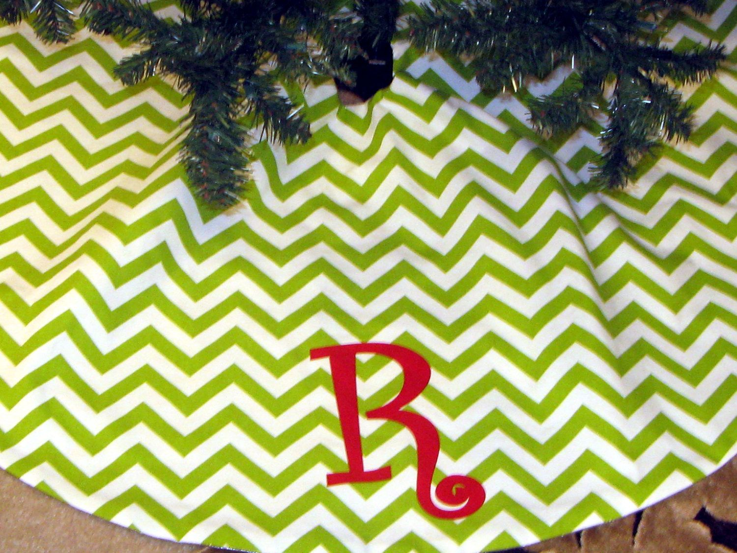 Reversible Christmas Tree Skirt In Chevron, Solid, Quatrefoil, Snowflake,  Stripe W/FREE Monogram In U0026 For Your Festive Occasion By Daintydesignsshop  On Etsy