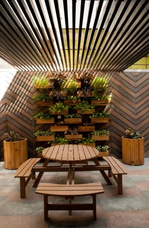 20 ideas que harán que tu patiecito se vea bonito Interior moderno - como decorar un techo de lamina