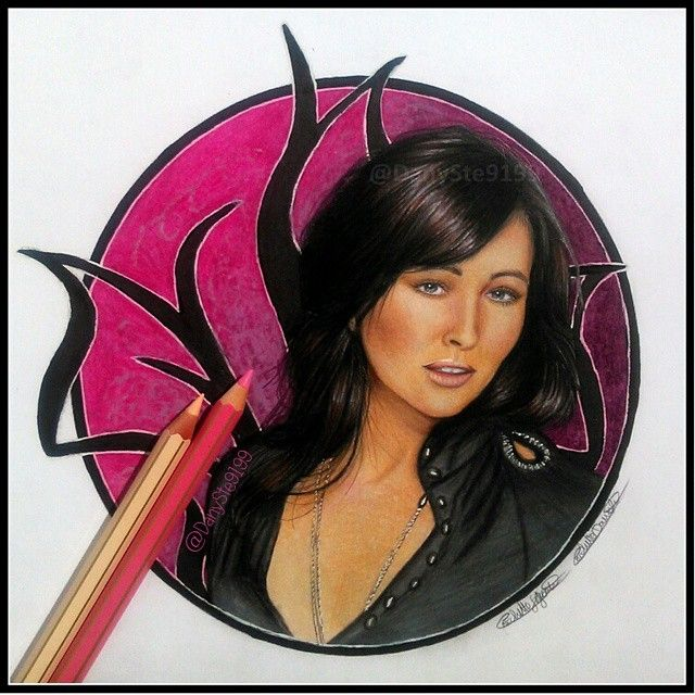"Sketch of Shannen Doherty as ""Prue Halliwell"", by danyste9199."