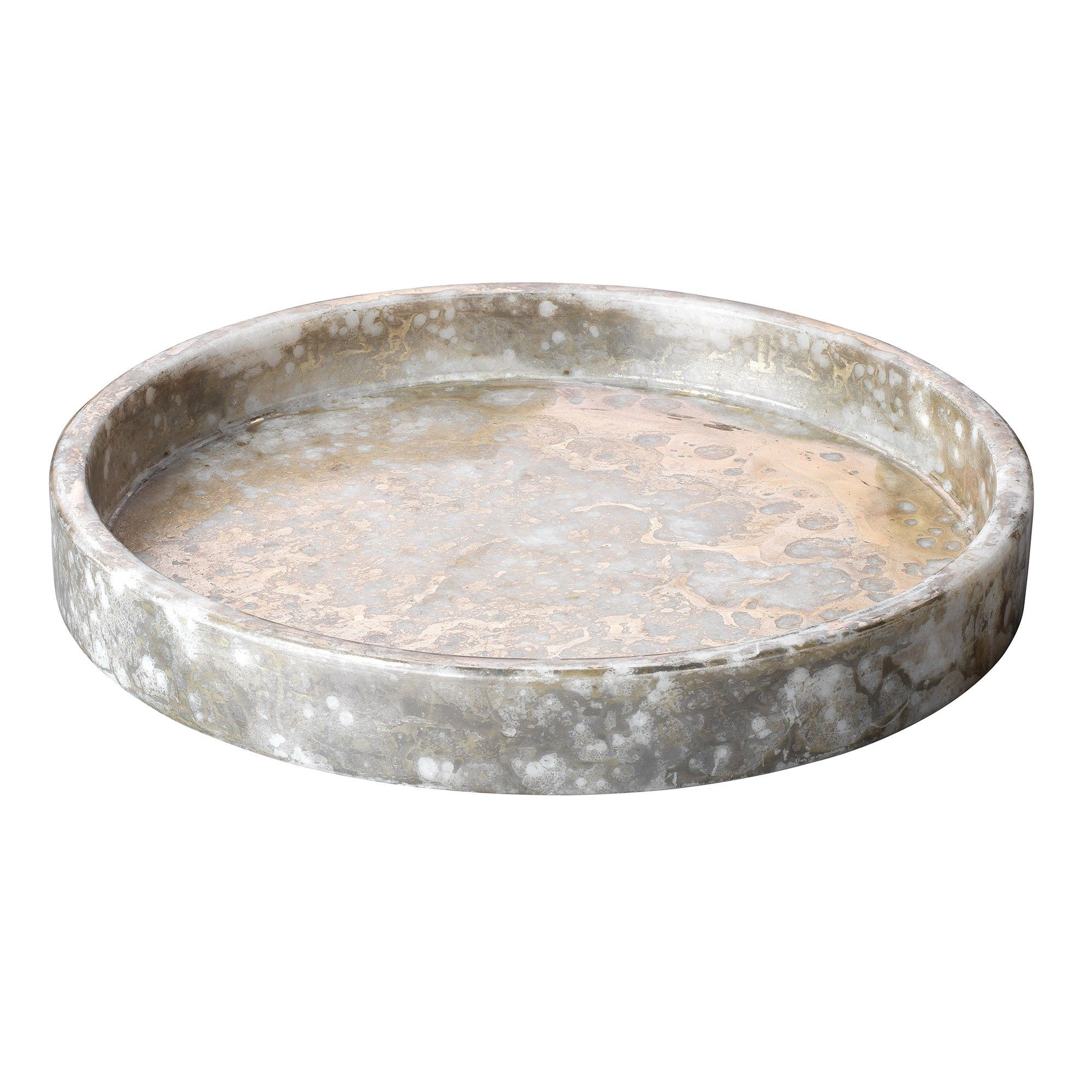 Unique Decorative Bowls A Low Round Marble Bowl With A Unique Silver And Gold Finishnot