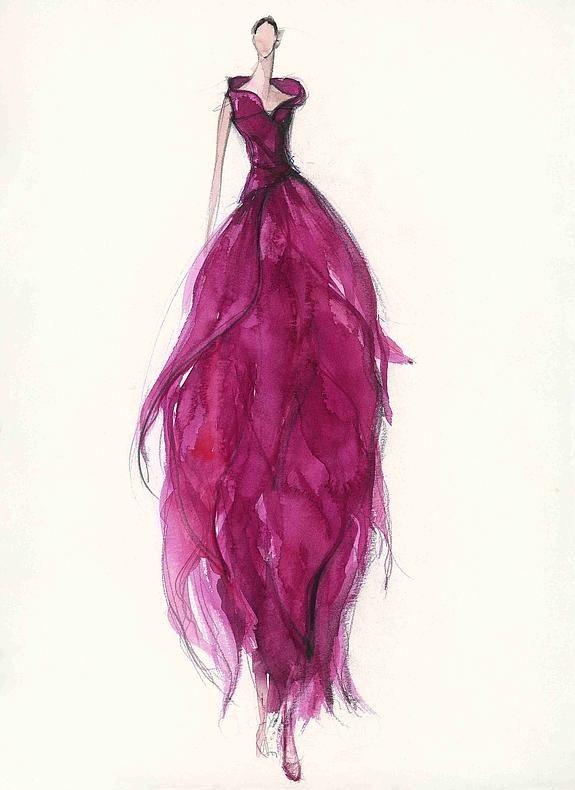 Boceto del vestido de novia de Paula Pappenheim (2001) - Jesús del ...