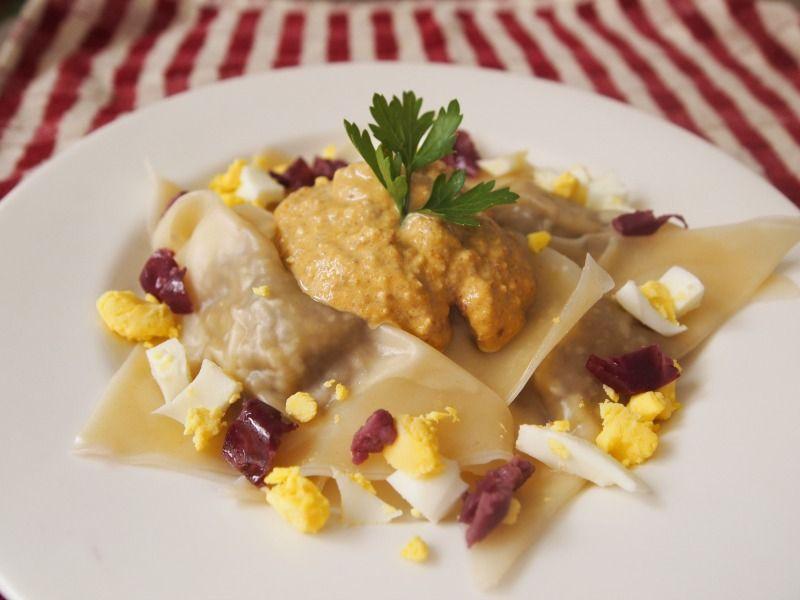 Vegetarian aji de gallina ravioli made with mushrooms peru visit us discover all about peruvian food restaurants recipes all of peru best dishes forumfinder Choice Image
