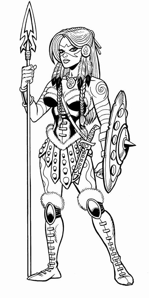 Lalla Crom S Sister From Crom The Barbarian For Gallant Comics By Steven Butler Cartoon Artwork Creating Characters Character Design