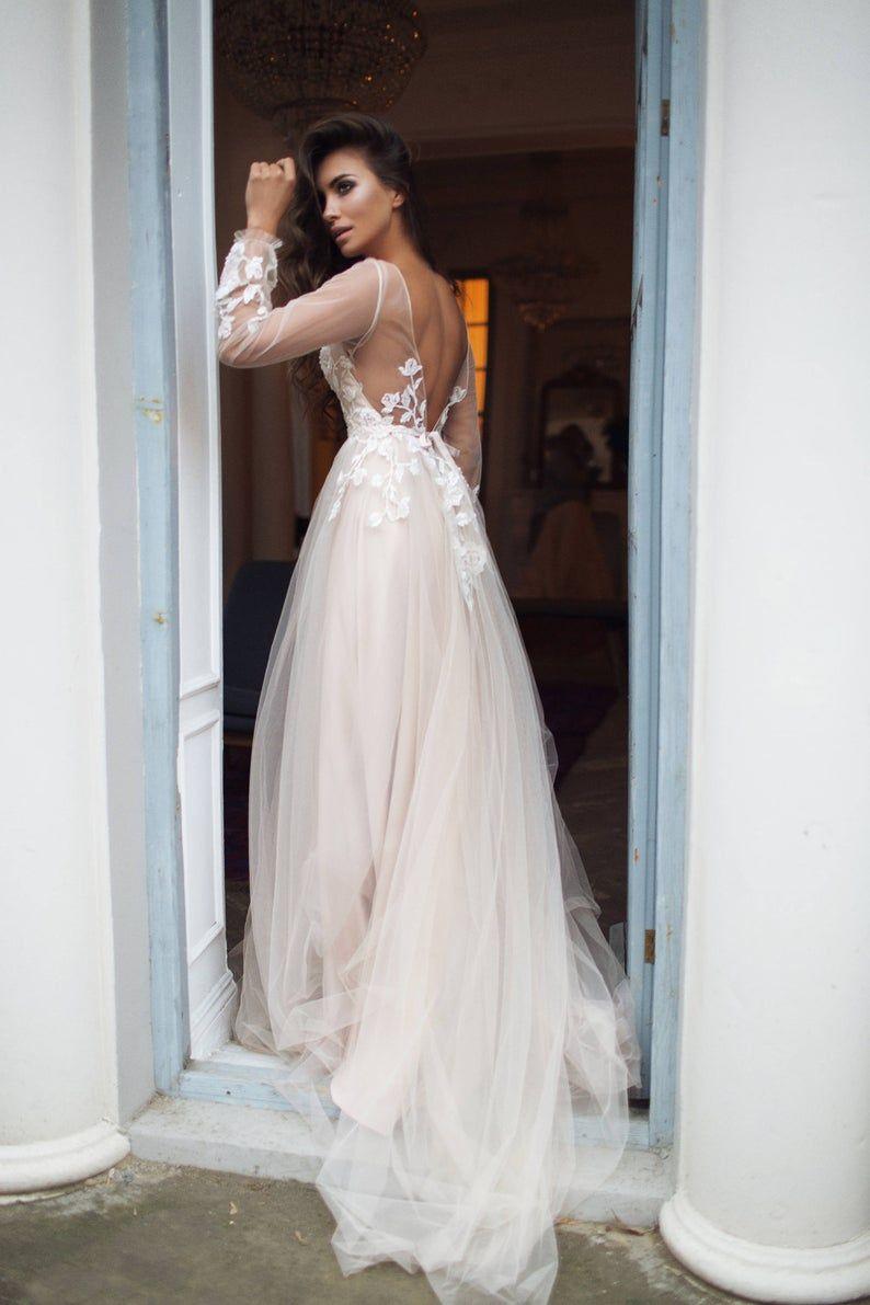 Bohemian Wedding Dress Long Sleeve Tara Open Back Wedding Dress Bell Sleeves Floral Wedding Dress 3d Flowers In 2021 Long Sleeve Bohemian Wedding Dress Applique Wedding Dress Wedding Dress Long Sleeve [ 1191 x 794 Pixel ]
