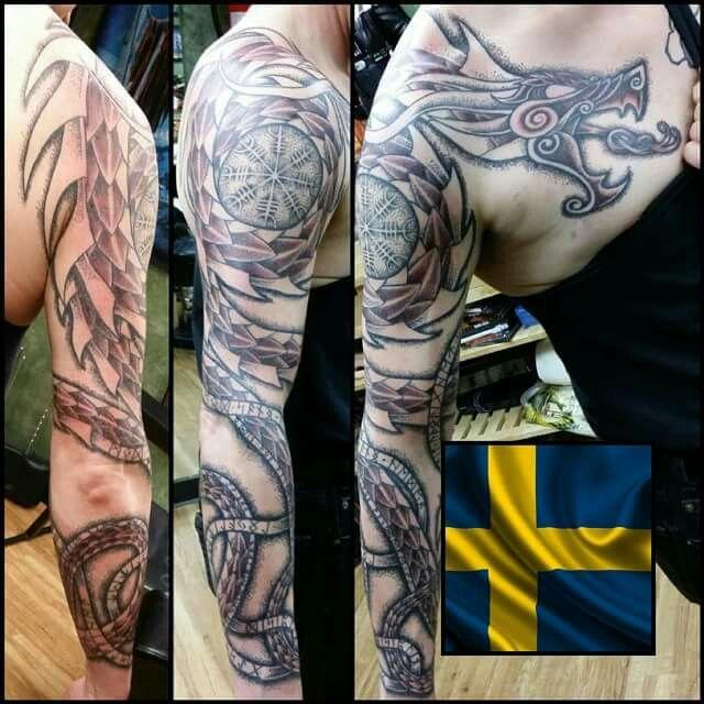 More C Olaf Hognell Brilliance Scandinavian Tattoo Viking Tattoos Dragon Sleeve Tattoos