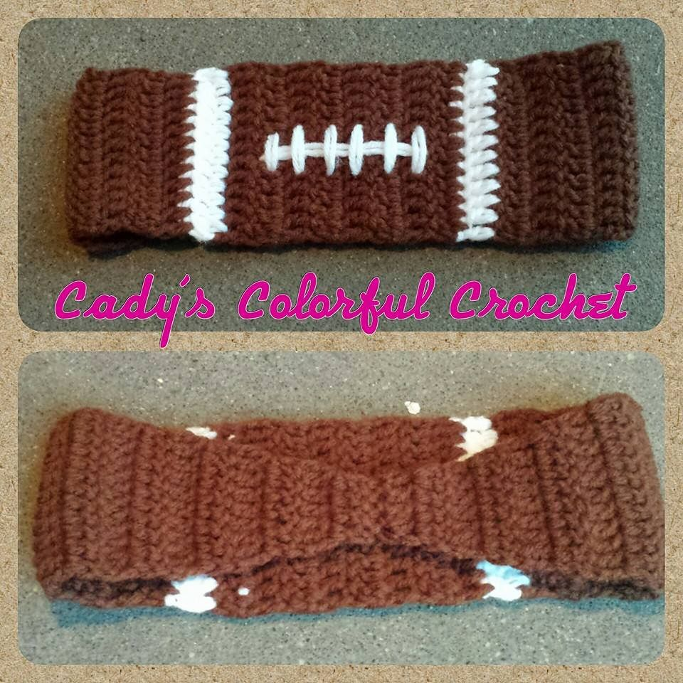 Football Earwarmer pattern by Cady Sides | Bandas para el cabello ...