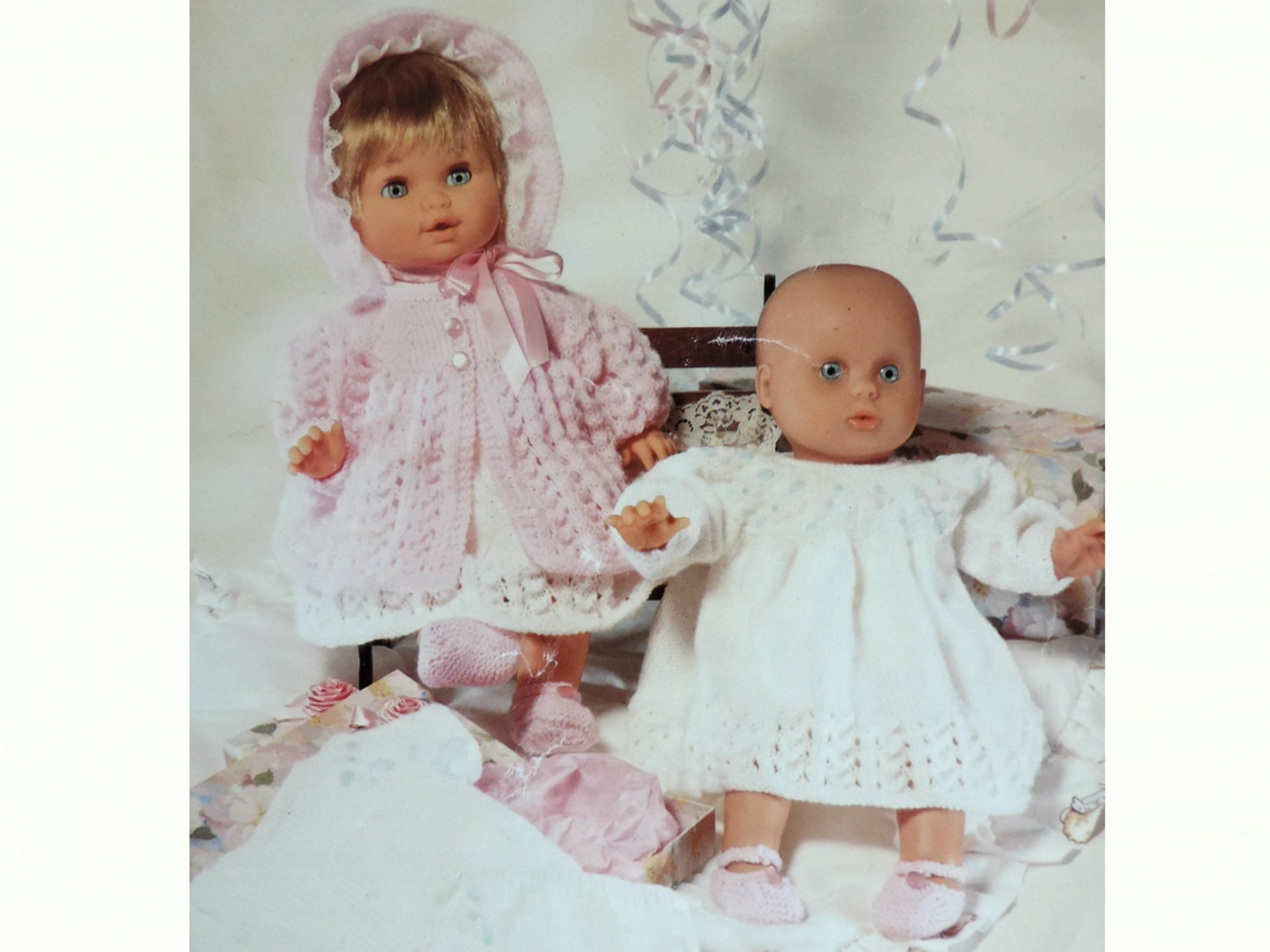 Baby Girl Dolls Clothes Layette Knitting Pattern Pdf Lacy Etsy Baby Doll Clothes Doll Clothes Baby Knitting