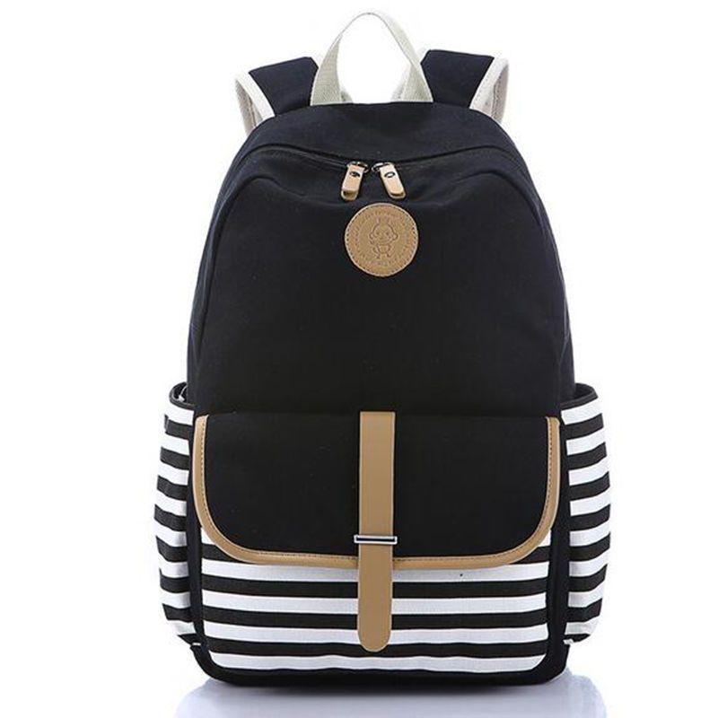 b0d166116444 Women Backpack Girl School Bag Fashion Shoulder Bag Rucksack Canvas Travel  Bags