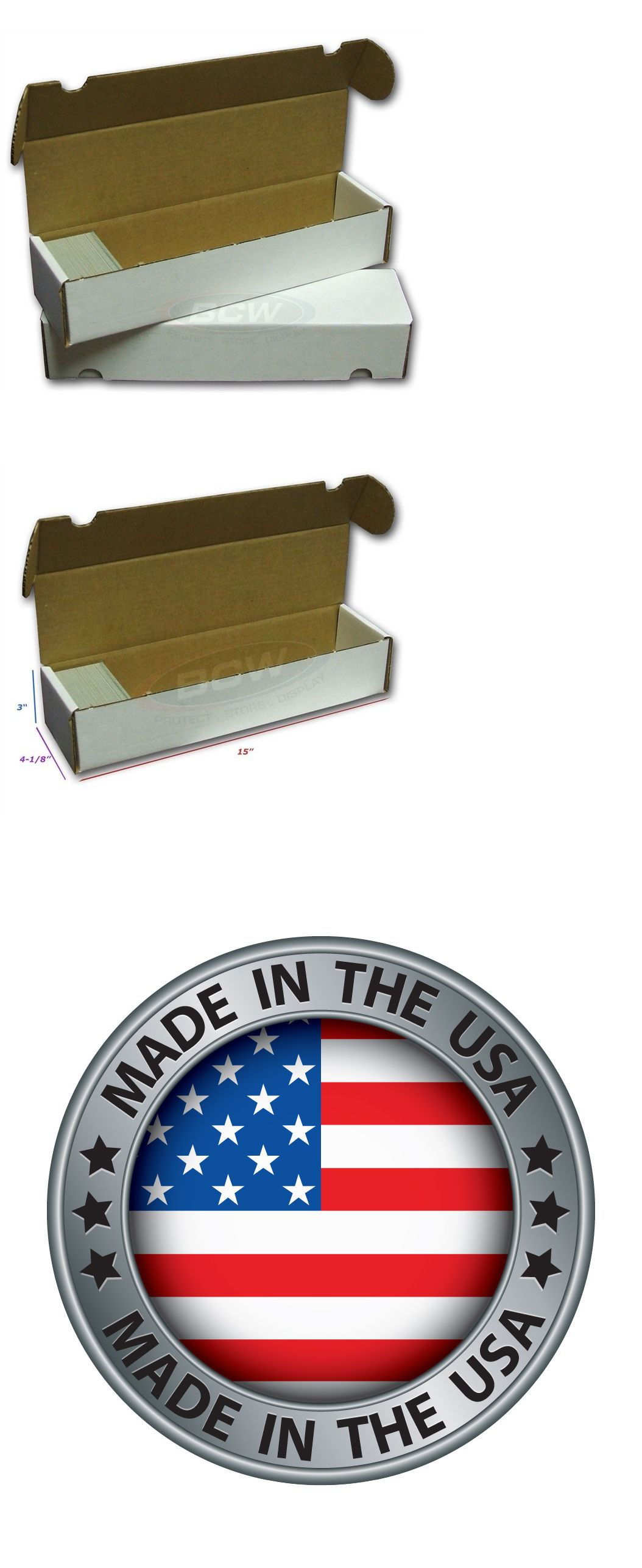 0a02028fcf0 Card Storage Boxes 183440  Lot Of 200 Bcw 800 Count Baseball Trading Card  Cardboard Storage