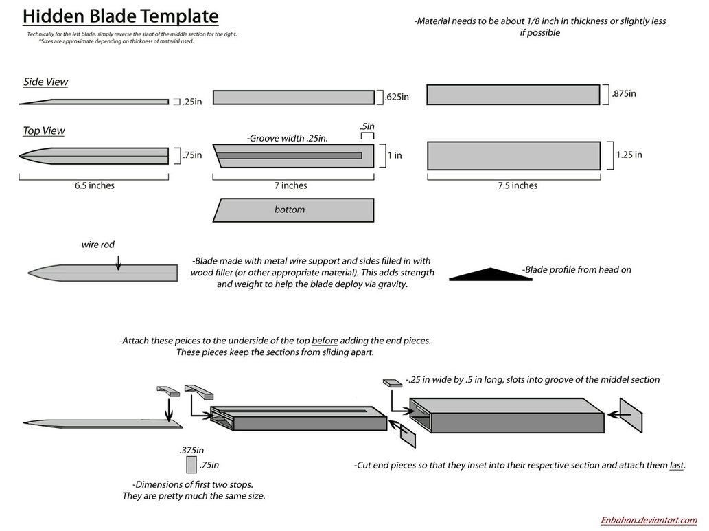 a blueprint of my hidden blade may be it could help someone to make his own and sorry for my bad english if you wouldn t understand something just write me  [ 1033 x 773 Pixel ]