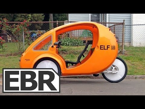2013 Organic Transit Elf Video Review Solar Powered Electric Bike With Canopy And Cargo Holds Electric Bike Diy Electric Bike Diy Solar Panel