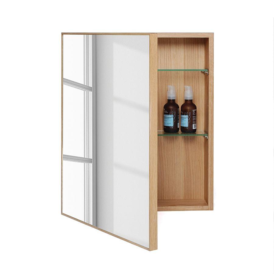 Spiegelschrank holz massiv  Spiegelschrank Slimline - Eiche Natur / 270€ | spiegelschrank ...
