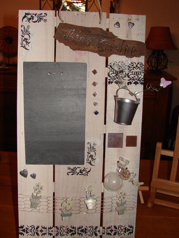 tableau m mo de cuisine en mat riaux recycl s bois et ardoise d corations murales par tallie. Black Bedroom Furniture Sets. Home Design Ideas