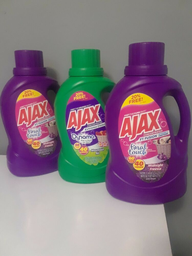 Ajax Laundry Detergent 60floz Condition Is New Shipped With Usps Priority Mail Ebay Ajax Laundry Detergent Laundry Detergent Ajax