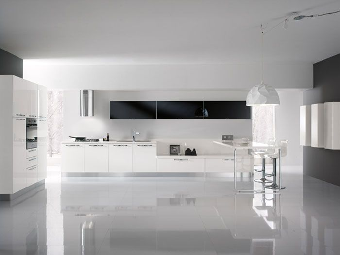 VALENCIA #KITCHEN Glossy white finishing ... http://spar.it/ita ...