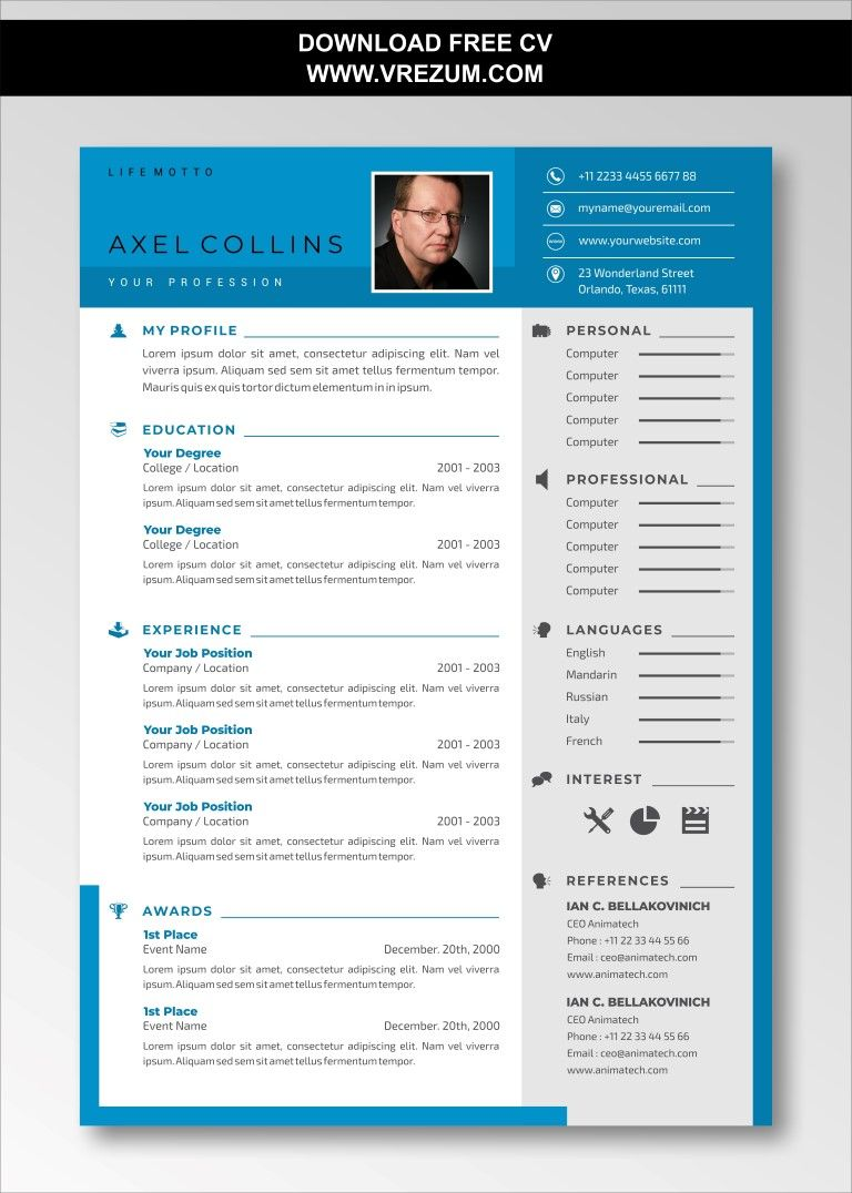 Editable free cv templates for construction in 2020