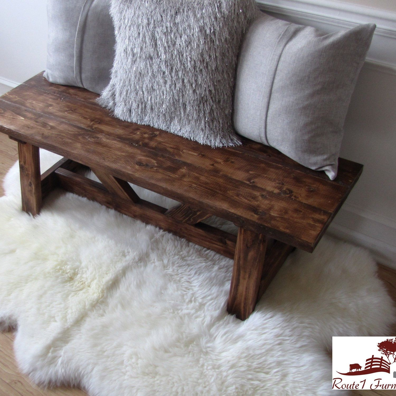 Will this great Providence bench find a cozy spot in your home next? #providence #bench #rustic #providencebench #handcrafted #madeinusa #homedecor