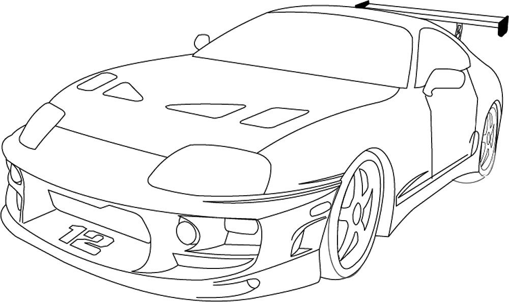 fast and furious coloring pages 02 | Tattoos | Pinterest ...