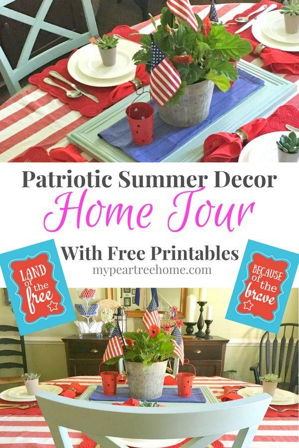 Patriotic Summer Decor Home Tour