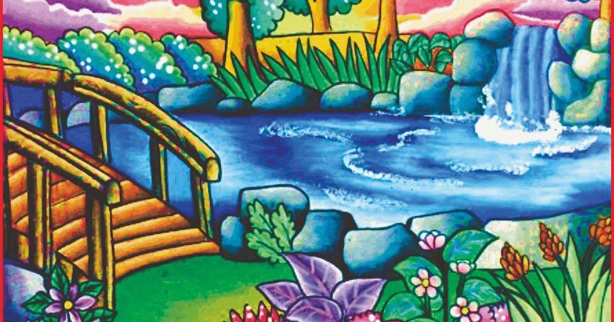 Paling Hits 30 Contoh Sketsa Pemandangan Alam Simple Cara Menggambar Pemandangan Alam Yang Bagus Dan Mudah Seni D Di 2020 Cara Menggambar Lukisan Hewan Pemandangan