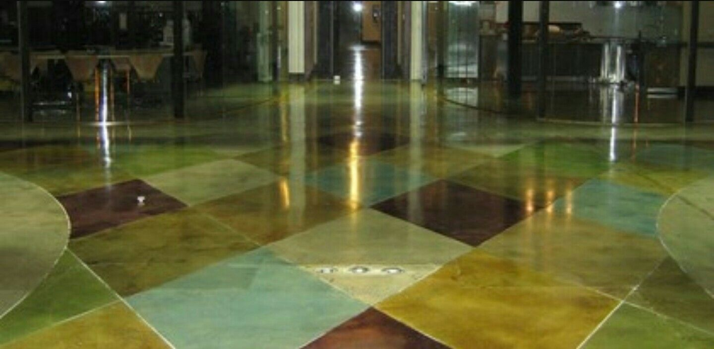 Stained Concrete Floor Staining Floors Demmert Ociates Glendale Ca