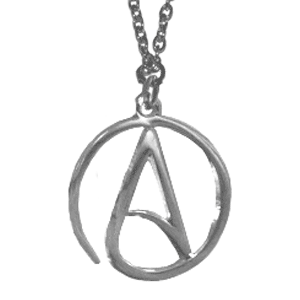 New lower price the pendant measures 1 in diameter the circle the pendant measures 1 in diameter the circle atheist symbol aloadofball Choice Image