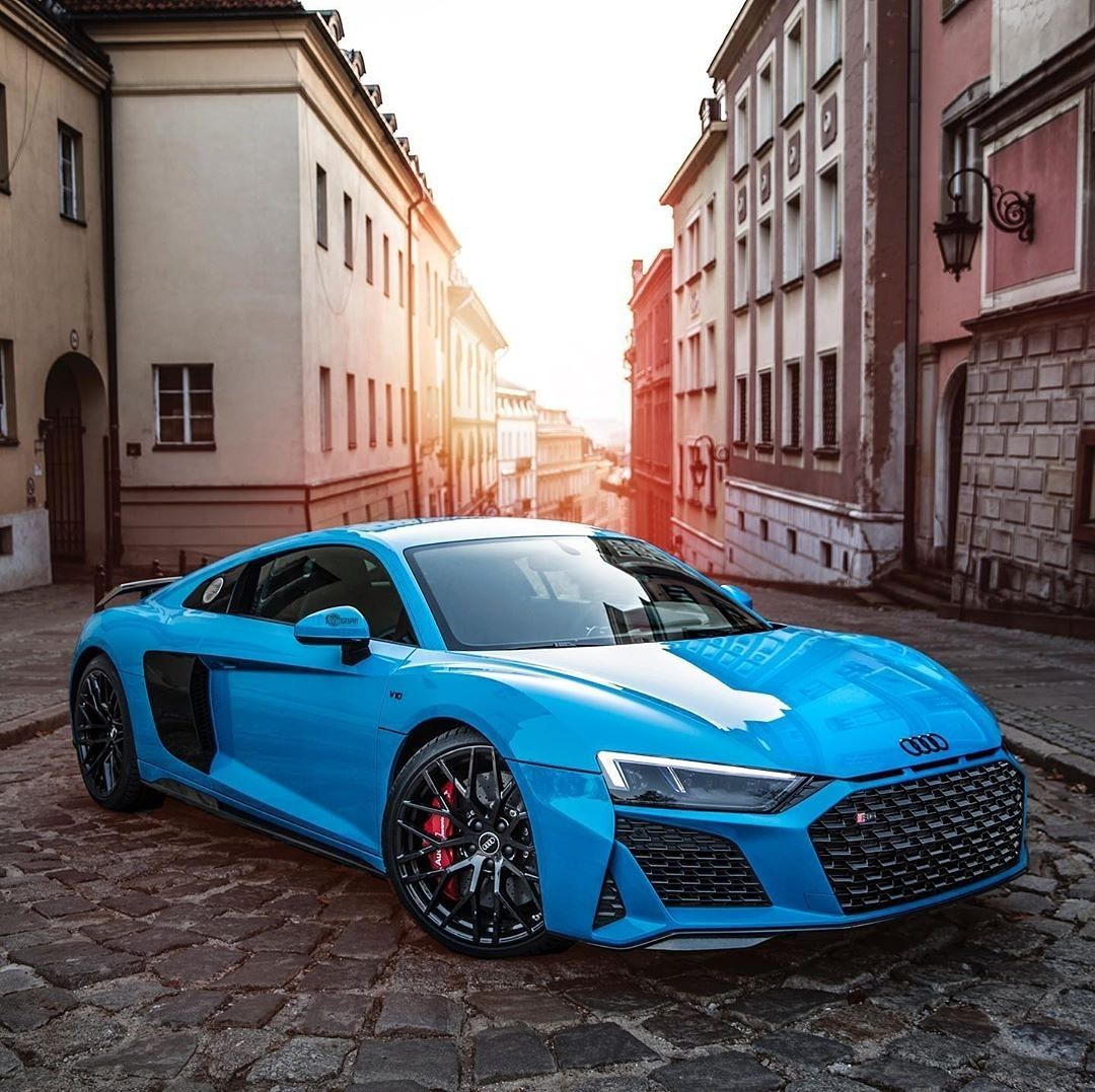 Brad The Supercar Lifestyle On Instagram Just Loving This Riviera Blue On The Audi R8 V10 Performance Dream Cars Audi Super Luxury Cars Cool Sports Cars