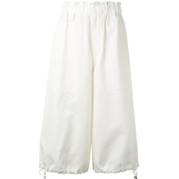 Helmut Lang Culotte Cotton Pants (6.063.180 IDR) liked on