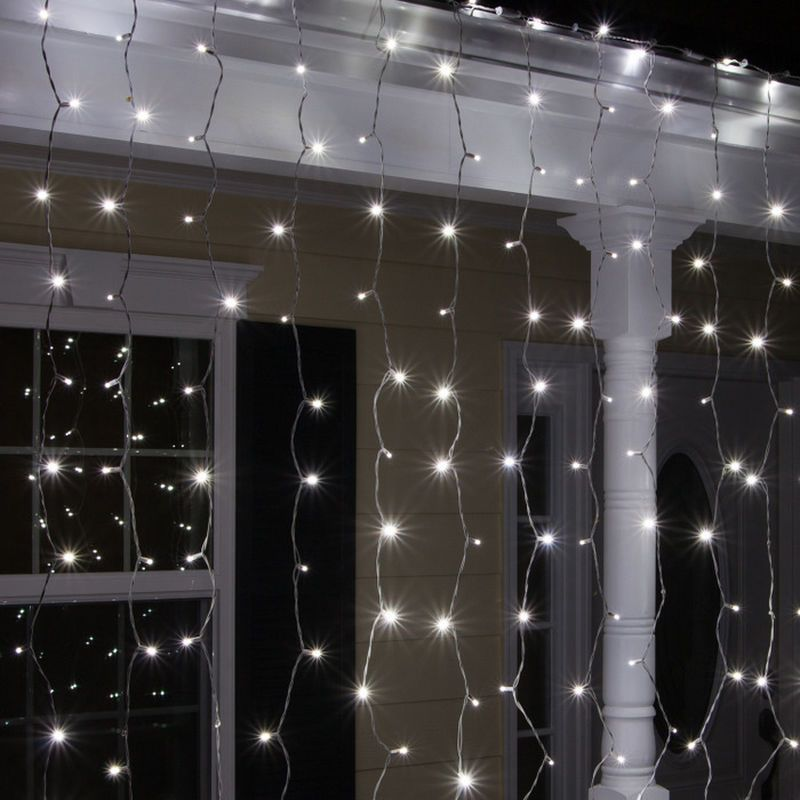 Wintergreen Lighting LED Curtain Icicle Lights Outdoors Pinterest